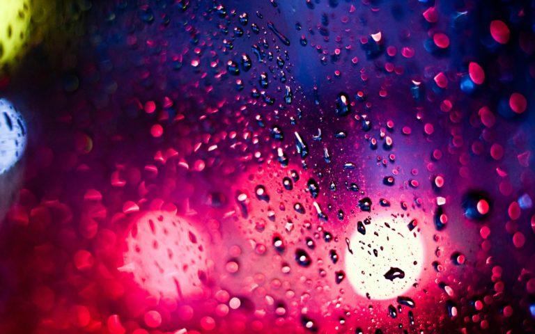 Bokeh Drops Rain Lights Window Glass Wallpaper 1920x1200 768x480