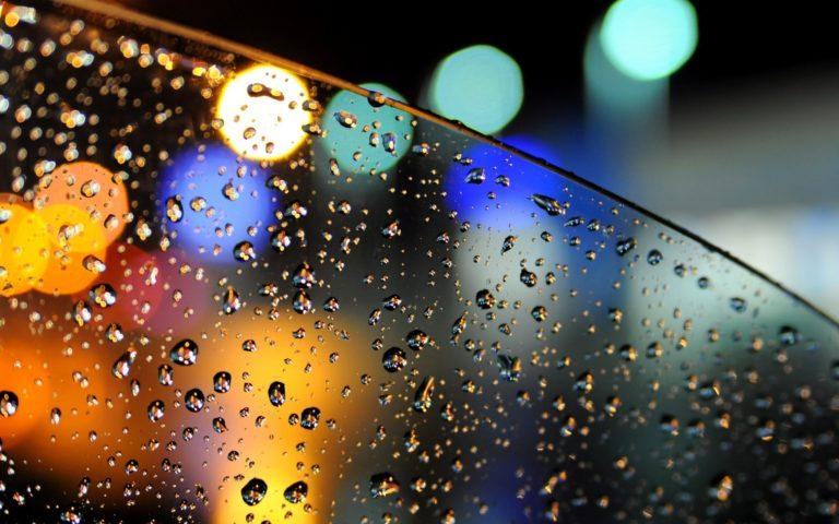 Bokeh Lights Glass Car Drops Water Wallpaper 1920x1200 768x480