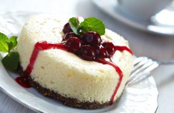 Cake Cheesecake Berries Wallpaper 1350x900 340x220