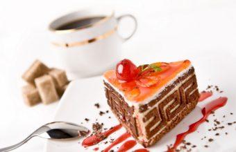 Cake Coffee Cup Wallpaper 1440x900 340x220