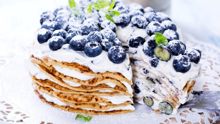Cake Pancakes Berries Blueberries Wallpaper 1920x1080 768x432