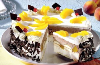 Cake Peaches Wallpaper 1920x1180 340x220