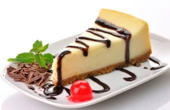 Cheesecake Cake Slice Wallpaper 2560x1600 340x220