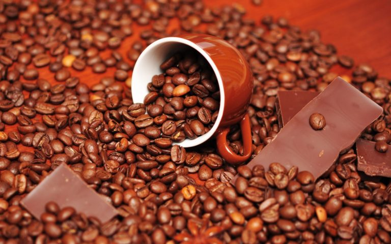 Chocolate Food Cups Coffee Beans Wallpaper 1920x1200 768x480