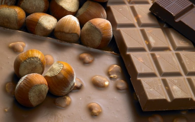 Chocolate Tile Nuts Wallpaper 1440x900 768x480