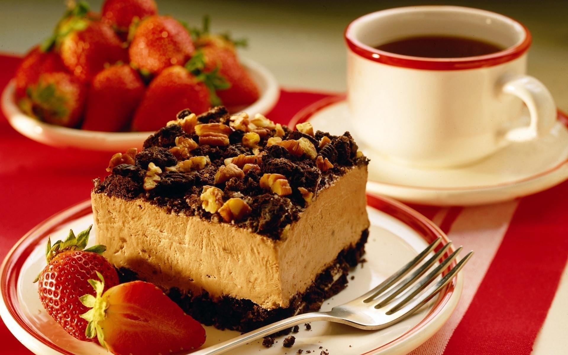 Coffee Food Cake Desserts Wallpaper 1920x1200