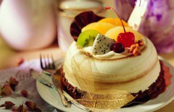 Food Cake Desserts Cherries Forks Wallpaper 2560x1600 340x220