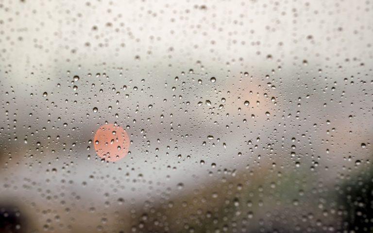 Glass Window Rain Storm Drops Wallpaper 1920x1200 768x480