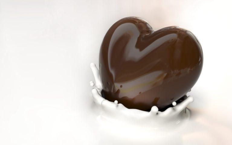 I Love Chocolate Heart Wallpaper 2560x1600 768x480
