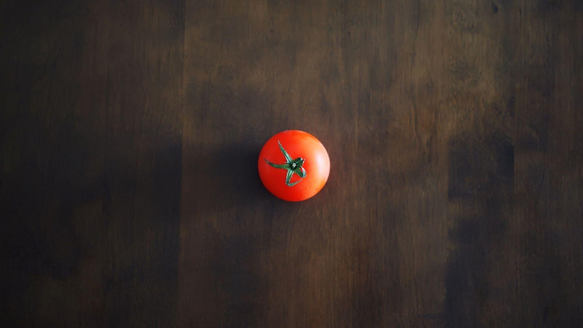 Minimalism Tomato Red Table Wallpaper - 1920x1080