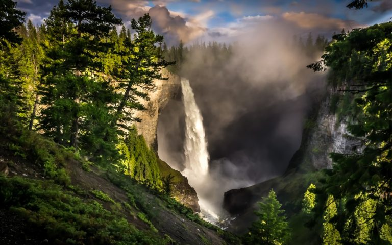 Nature Landscapes Waterfalls Trees Wallpaper 1920x1200 768x480