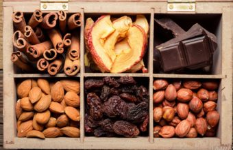 Nuts Dried Fruit Chocolate Raisins Wallpaper 2560x1600 340x220