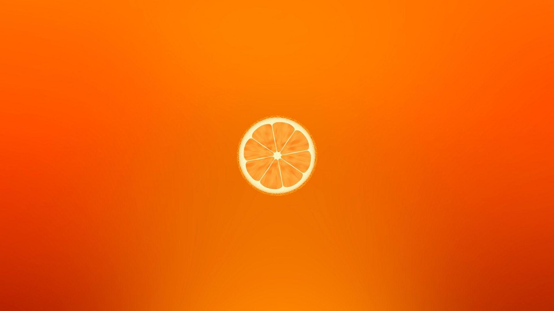 Orange Minimalism Slice Slice Wallpaper 1920x1080