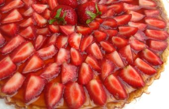 Pie Strawberry Segments Wallpaper 1920x1200 340x220
