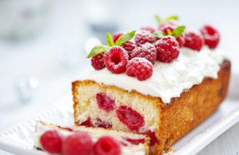 Raspberries Berries Cake Cream Wallpaper 5448x3632 340x220