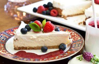 Raspberries Cake Cake Dessert Wallpaper 1920x1258 340x220