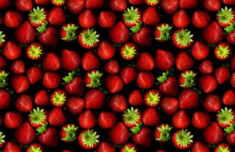 Strawberries Texture Wallpaper 2560x1600 340x220