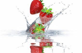 Strawberry Berry Spray Wallpaper 2880x1800 340x220