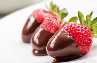 Strawberry Chocolate Dessert Wallpaper 3831x2554 340x220
