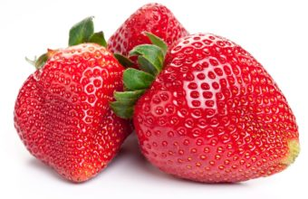 Strawberry Close Up White Background Wallpaper 1350x900 340x220