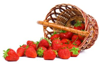 Strawberry Food Basket Wallpaper 2560x1600 340x220