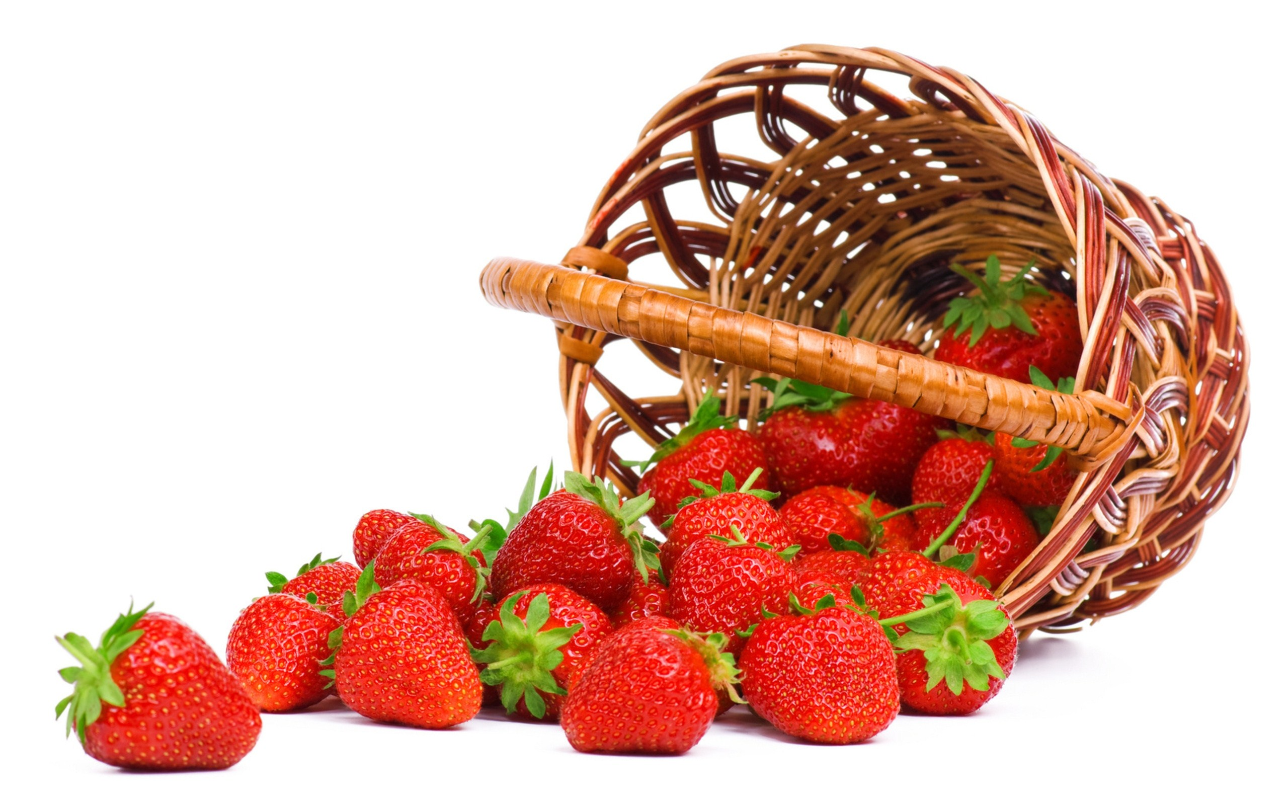 Strawberry Food Basket Wallpaper 2560x1600
