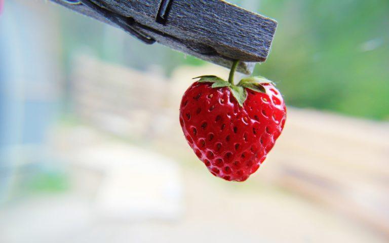 Strawberry Heart Shaped Wallpaper 2560x1600 768x480