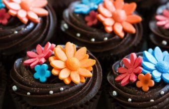 Sweets Cake Closeup Food Flowers Wallpaper 4272x2848 340x220