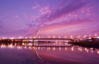 Taipei Dazhi Bridge Sunset 340x220
