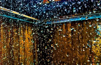 Water Droplets Window Panes Glass Wallpaper 1920x1080 340x220