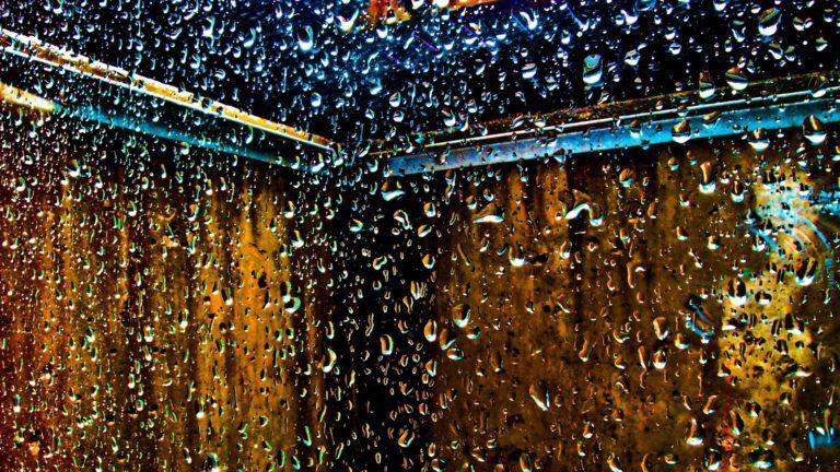 Water Droplets Window Panes Glass Wallpaper 1920x1080 768x432