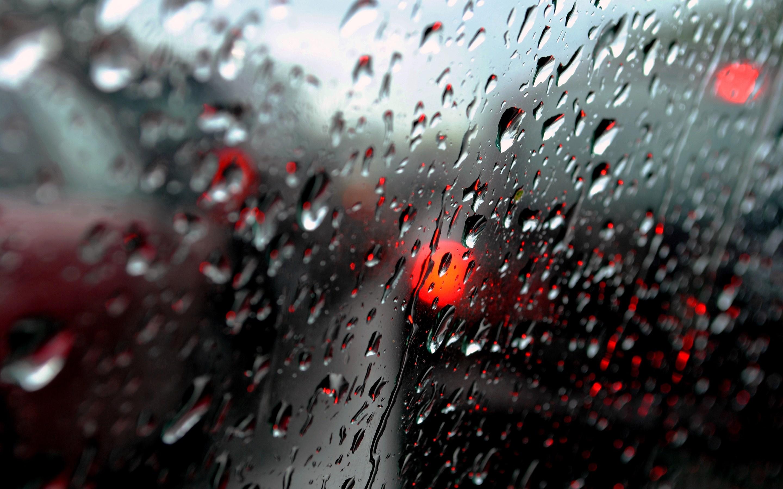 Water Drops Window Macro Rain Glass Wallpaper 2880x1800