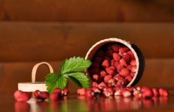 Wild Strawberry Pot Sheet Wallpaper 2560x1600 340x220