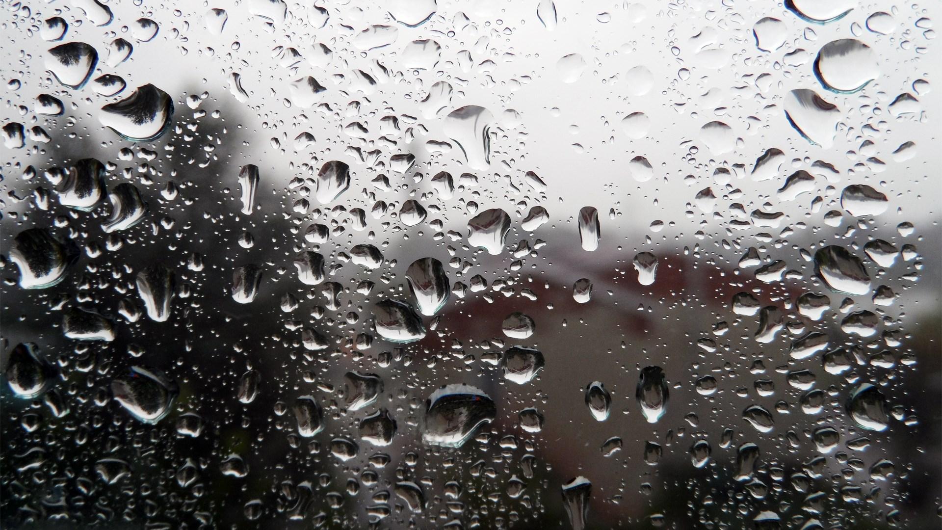 Window Drops Glass Rain Storm Wallpaper [1920x1080]