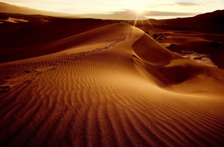 desert sand dunes dunes sun sky 768x507