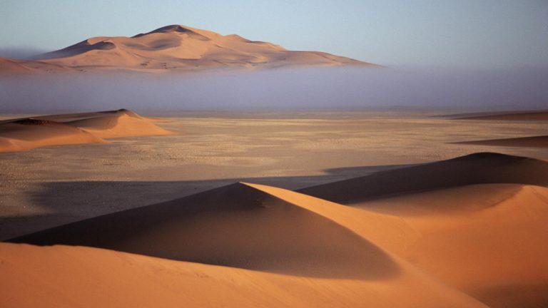 deserts fog bank Namibia sand dunes 768x432