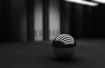 3D Black Ball 1680x1050 340x220