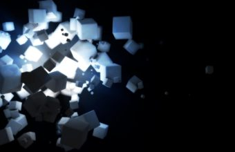 3d Blue Square 1440x900 340x220