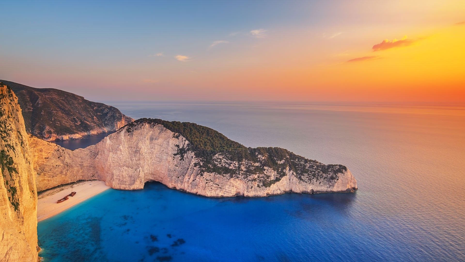 Navagio Beach At Zakynthos Greece