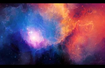 Abstract Outer Space Stars Nebulae 2560 X 1600 340x220