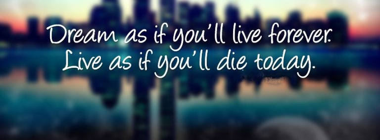 Amazing Quote Facebook Cover Photo 851 x 314 768x283