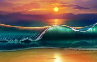 Art Sunset Beach 5500 x 3240 340x220