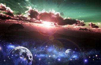 Art Yk Sunset Sun Stars Earth Planet 1920 x 1200 1 340x220