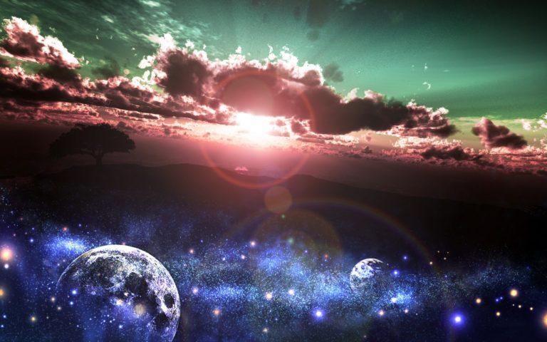 Art Yk Sunset Sun Stars Earth Planet 1920 x 1200 768x480