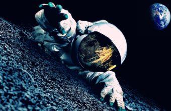Astronaut Mood Earth Planets Mask 1920 x 1080 340x220