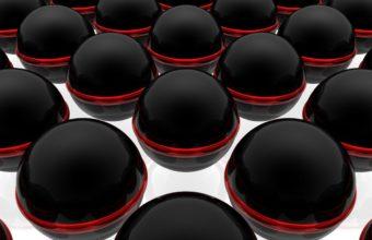Balls Black Surface 1125 x 900 340x220