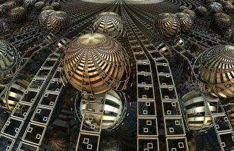 Balls Lines Fractal 2560 x 1540 340x220
