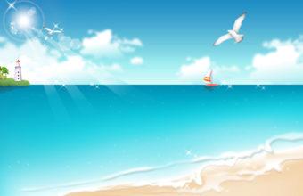 Beach Vector Background 1920 x 1200 340x220