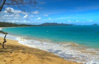 Beach Waves On Sand 1920 x 1080 340x220