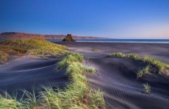 Beaches Grass Sand Ocean Sea 1920 x 1080 340x220